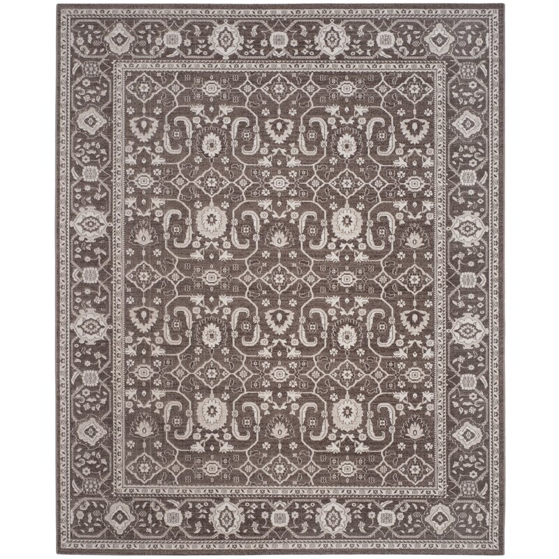 Alcott Hill Fleetwood Brown Area Rug, Size: Rectangle 8 x 10