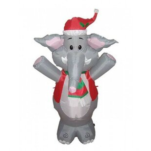 christmas inflatable cute standing elephant decoration - Free Standing Christmas Decorations