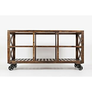 Obadiah Rustic Wooden Bar Cart