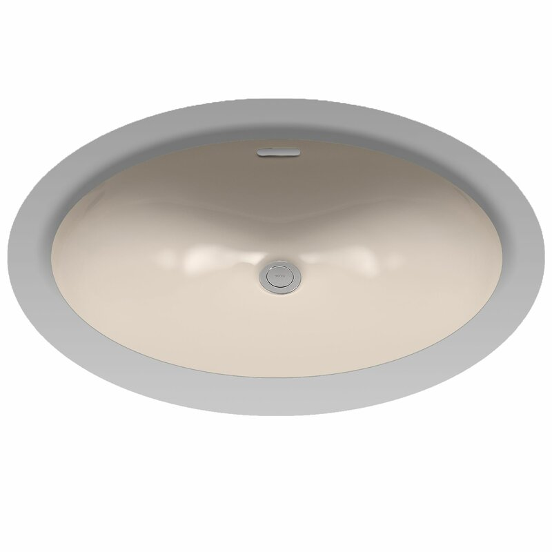 toto augusta decorative ceramic oval undermount bathroom sink with