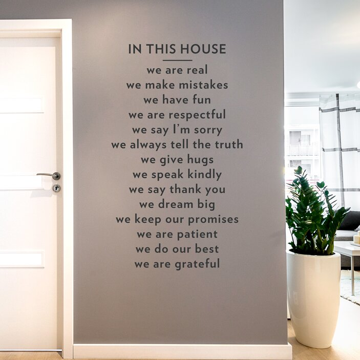 Wallums Wall Decor In This House Wall Decal Reviews Wayfair - How do u put up a wall sticker