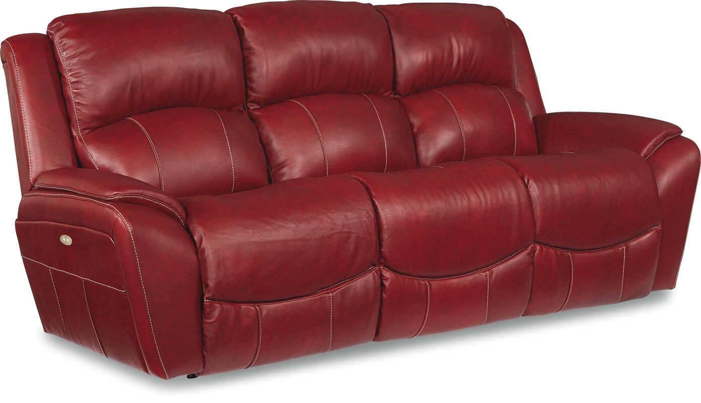 La Z Boy Barrett Leather Reclining Sofa Reviews Wayfair ~ Red Leather Power Reclining Sofa