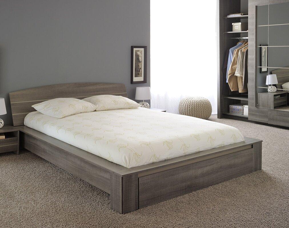 Queen platform bed frame - Split Queen Platform Bed