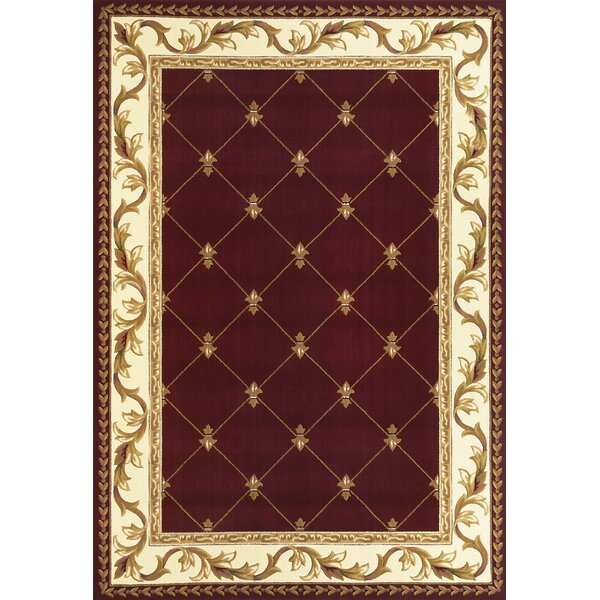 Astoria Grand Barwin Fleur De Lis Red Area Rug Reviews Wayfair