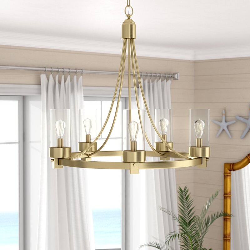 Delshire 5 Light Wagon Wheel Chandelier & Reviews