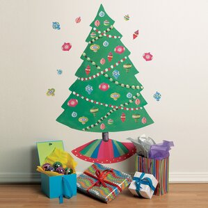 Charmant Christmas Tree Vinyl Holiday Wall Decal