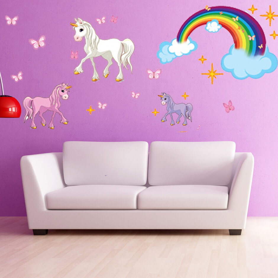 Style And Apply Unicorn Wall Decal Reviews Wayfair