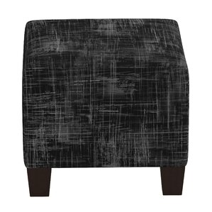Sturgis Metallic Crossweave Square Ottoman by Brayden Studio