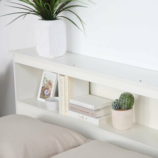 Stutes Full/Queen Bookcase Storage Headboard