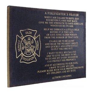 A Firefighter S Prayer Framed Textual Art