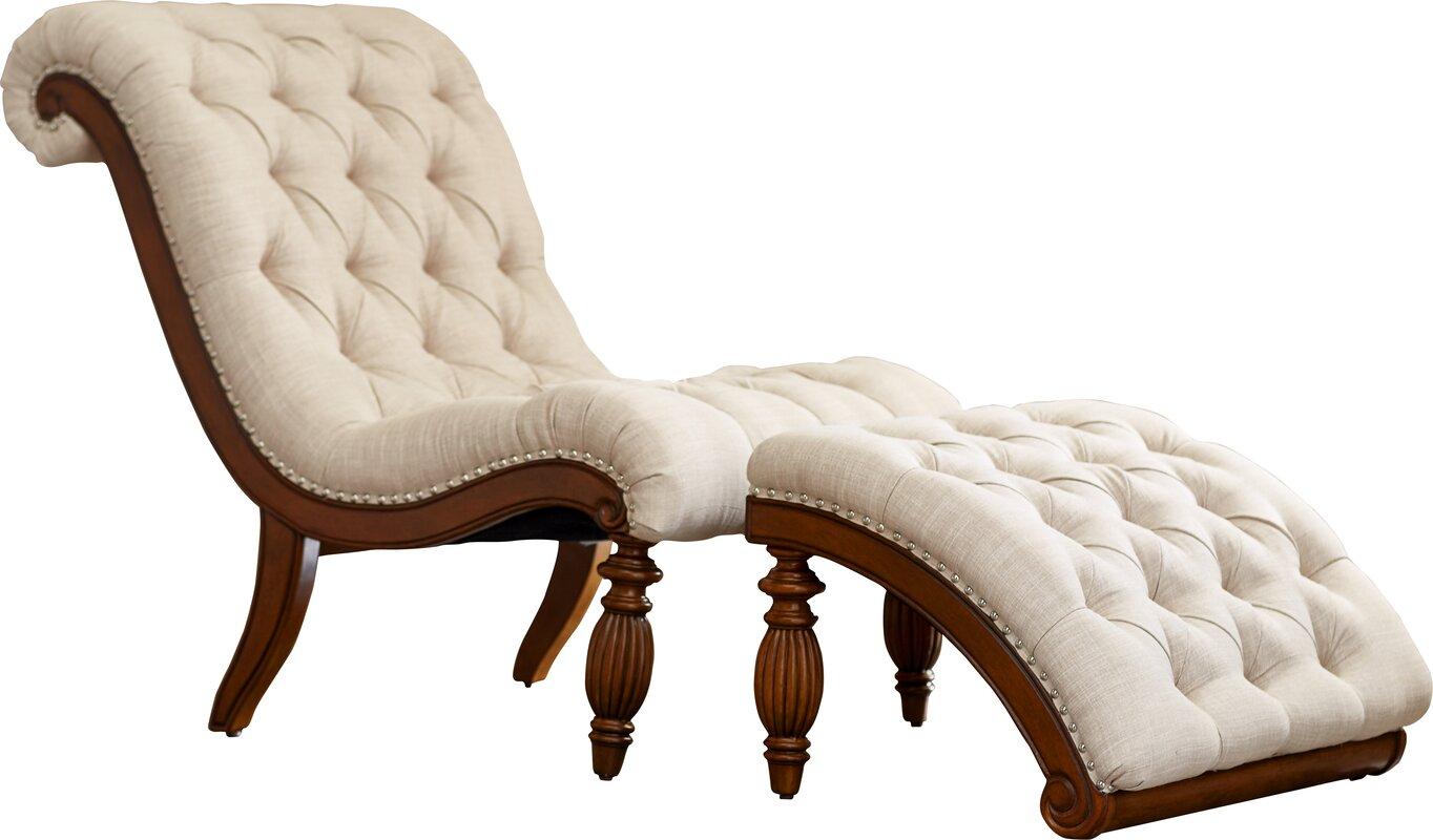 2 Piece Austen Tufted Chaise & Ottoman Set & Reviews