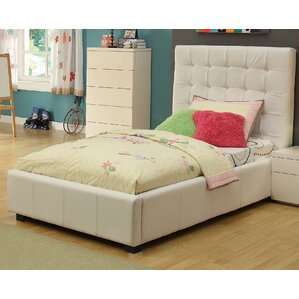 Athens Twin Upholstered Storage Platform Bed by At Home USA