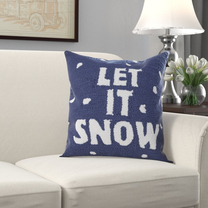 Superbe Haggerty Let It Snow Throw Pillow
