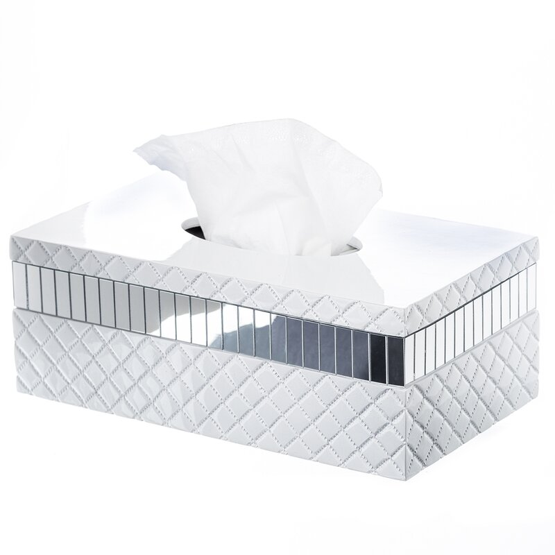 Creative Scentsquilted Mirror Rectangular Tissue Box Cover