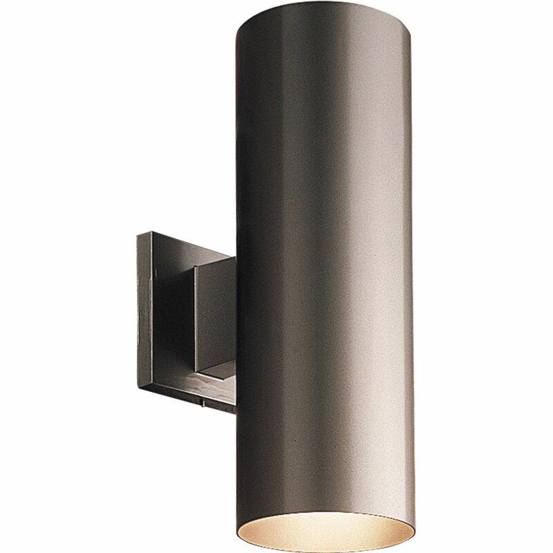 Brayden Studio Everts Cylinder 2-Light Outdoor Sconce & Reviews ...