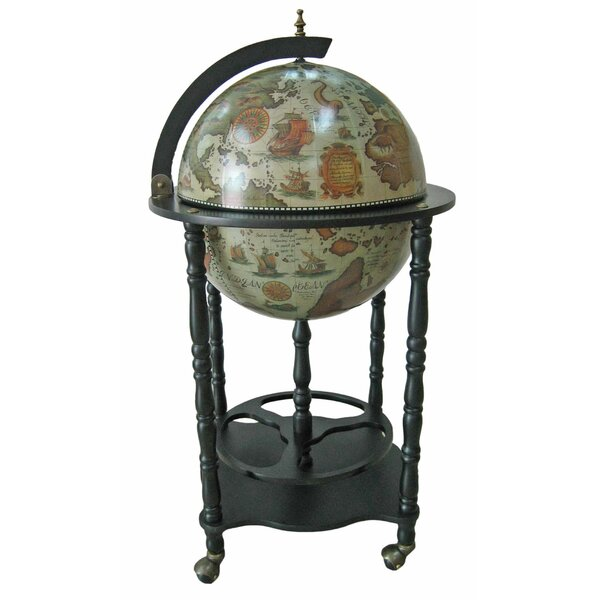 Bar Stand Furniture: Merske LLC Firenze Italian Style Floor Globe Bar With