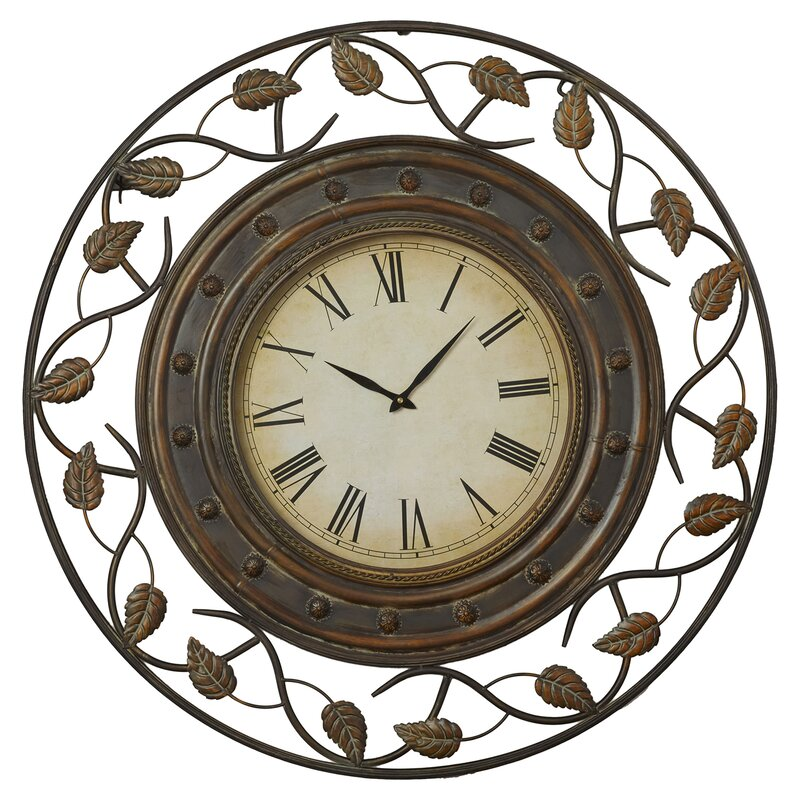 decorative wall clocks darby home co cleffort 36 quot decorative wall clock amp reviews 30134