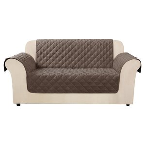 Quilted Pet Box Cushion Loveseat Slipcover b..