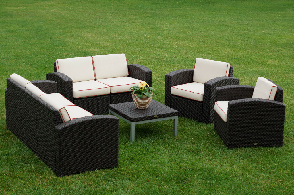 Strata Furniture Cielo 5 Piece Sofa Set With Cushions