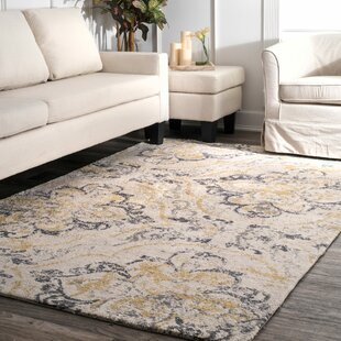 Zanesville Ivory/Yellow Area Rug
