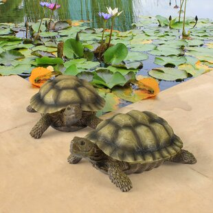Gilbert The Box Turtle Statue Set Of 2