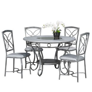 Papineau Metal 5 Piece Dining Set