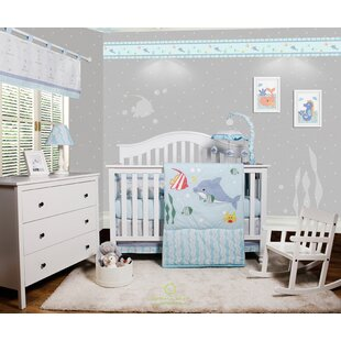 Baby nursery lamps wayfair harrelson ocean sea dolphin baby nursery 6 piece crib bedding set set of 6 aloadofball Gallery