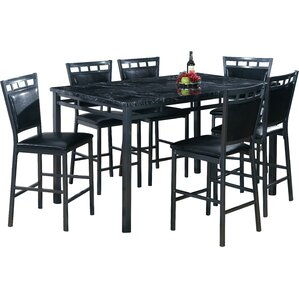 7 Piece Counter Height Dining Table Set Part 54