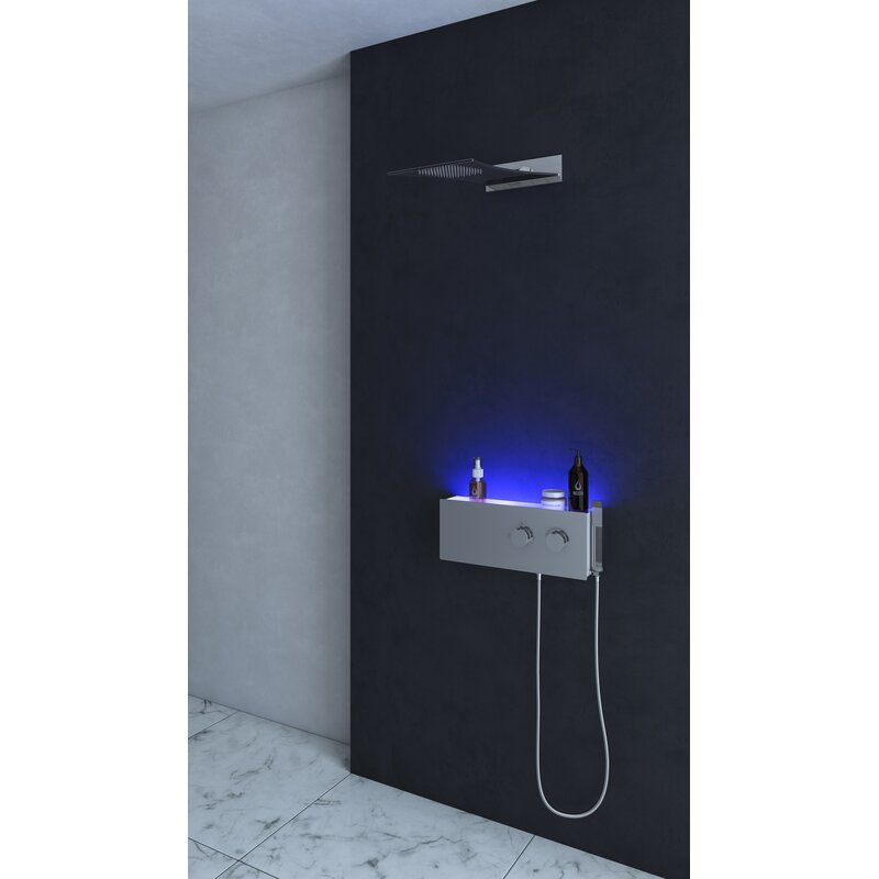 Mia Thermostatic Led Rain Shower Head Panel