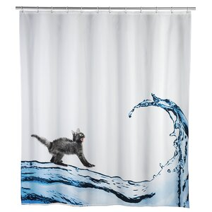Cat Anti-mold Shower Curtain