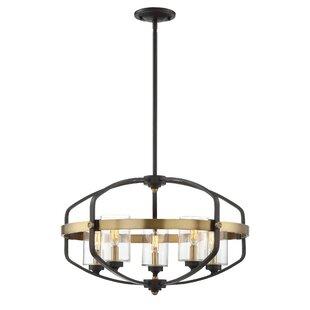 Modern foyer pendant lighting allmodern esme 5 light foyer pendant aloadofball Gallery