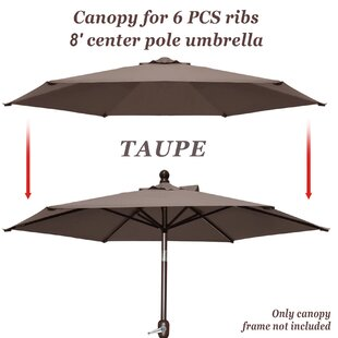 Celine Umbrella Canopy 6 Rib Top Outdoor Patio Replacement Cover  sc 1 st  Wayfair : canopy replacement poles - memphite.com
