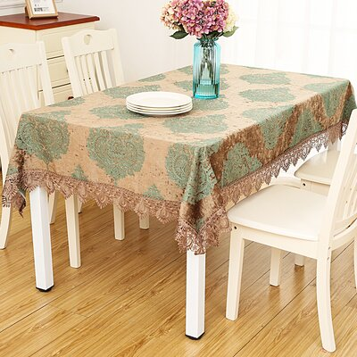 "Astoria Grand Delancy European Jacquard Table Cloth  Size: 90"" L x 60"" W"
