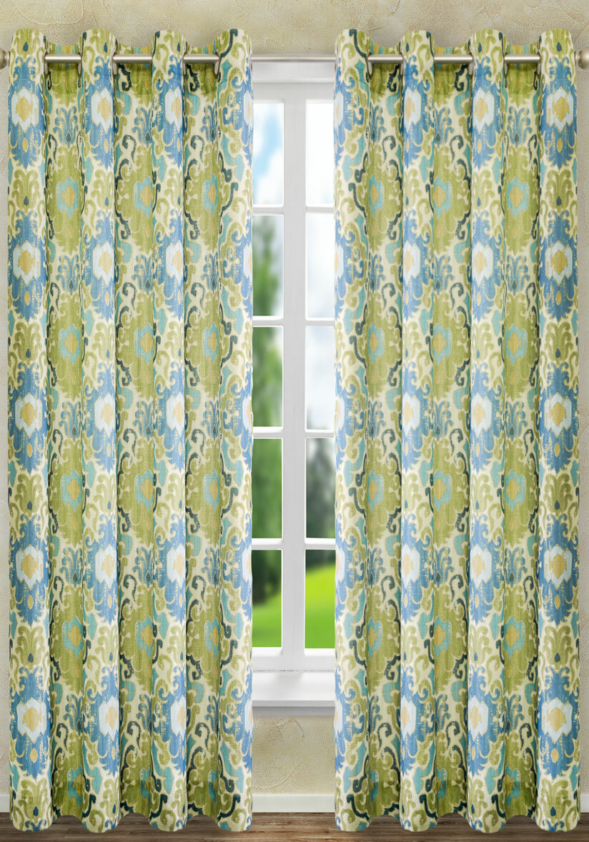Charlton Home Mead Lined Grommet Single Curtain Panel & Reviews | Wayfair