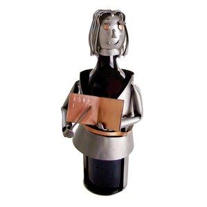 Teacher Female 1 Bottle Tabletop Wine Rack by H & K SCULPTURES