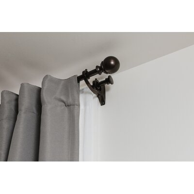 Umbra Diverge Double Curtain Rod Size: 88 - 120 W, Color: Auburn Bronze
