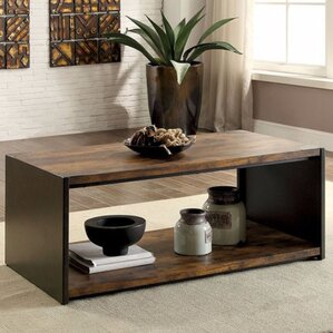 Sergio Coffee Table with Magazine Rack by Williston Forge