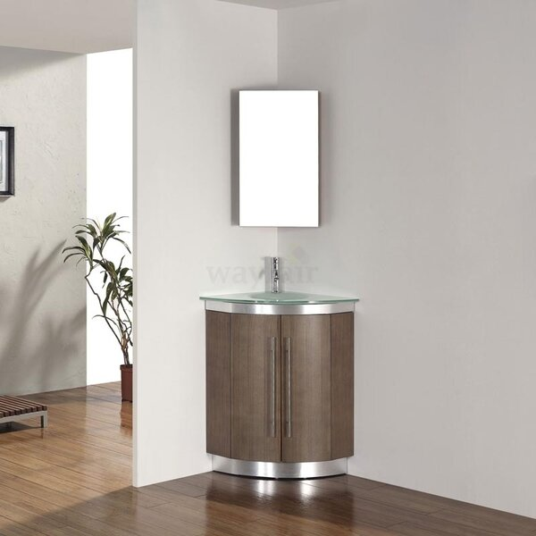 diara 31 single corner bathroom vanity set with mirror