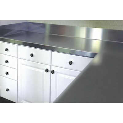 """Stainless Steel Counter Top With Backsplash A-line By Advance Tabco Size: 6.5"""" H X 30"""" W X 24"""" D"""
