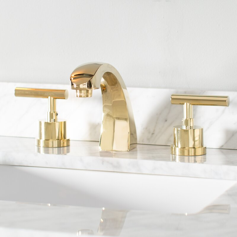 Kingston Brass Manhattan Widespread Bathroom Faucet with Brass Pop ...
