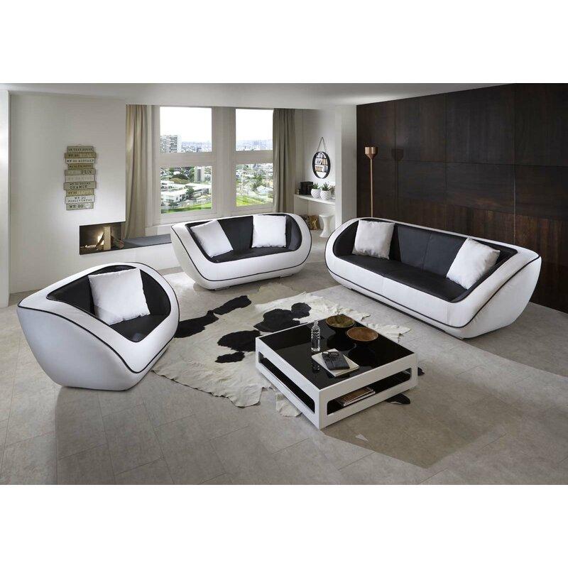 Sam Stil Art Möbel Gmbh 3 Tlg Couchgarnitur Nelson Wayfairde