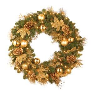 Pre-Lit Elegance Wreath