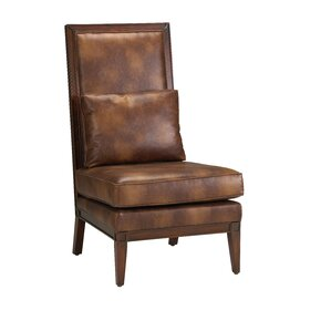 Wasco Bonded Leather Parson Chair by Loon Peak