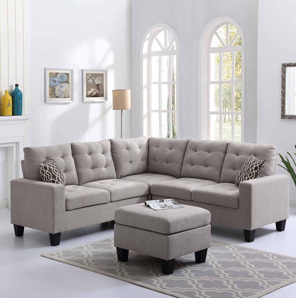 Pawnee Sectional with Ottoman & Reviews | Joss & Main