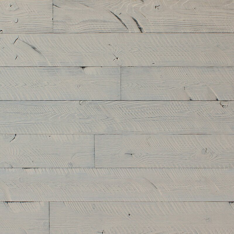 Williston Forge Rasch 5 X 46 Reclaimed L And Stick Engineered Wood Wall Paneling In Gray Wayfair