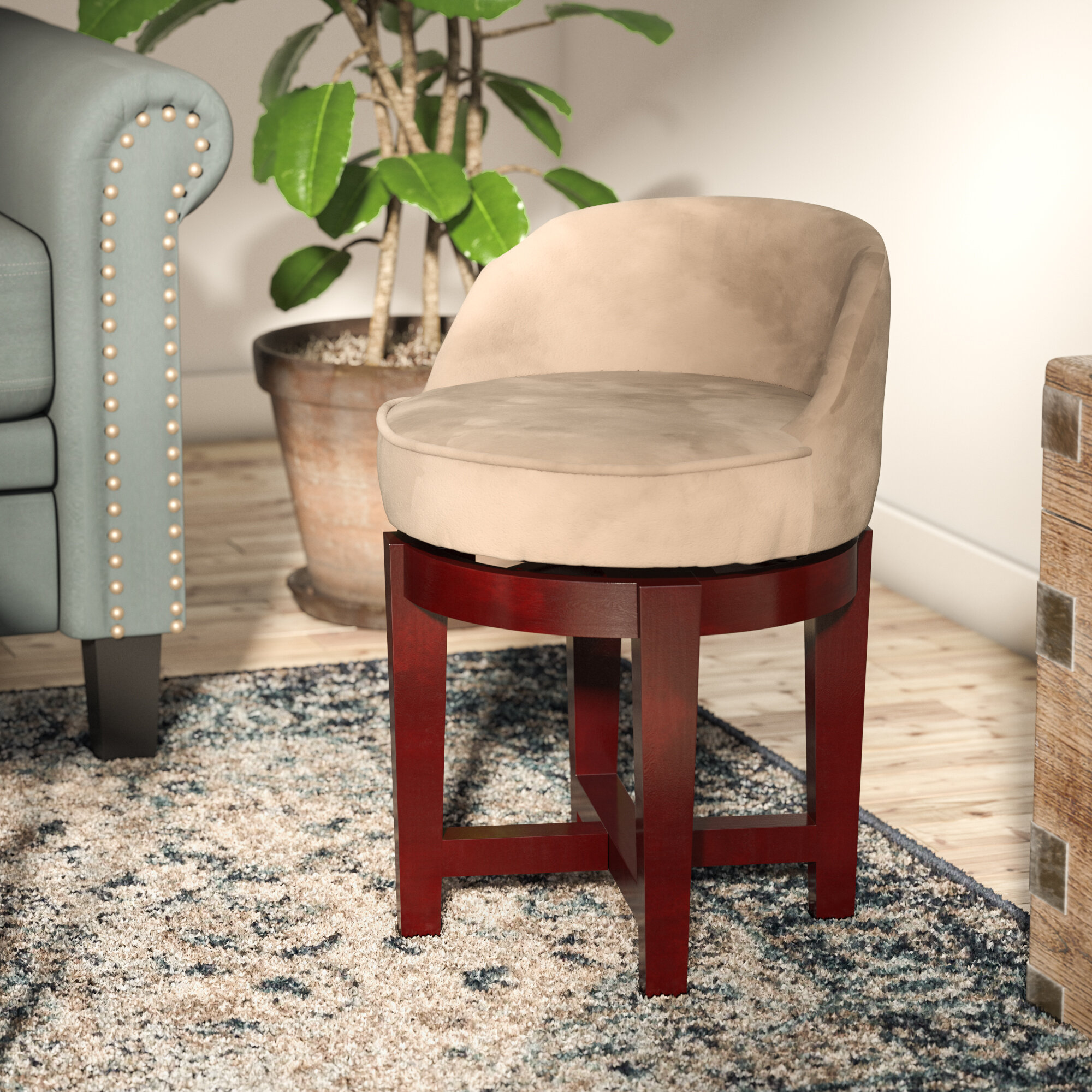 Incredible Stults Swivel Solid Wood Vanity Stool Squirreltailoven Fun Painted Chair Ideas Images Squirreltailovenorg