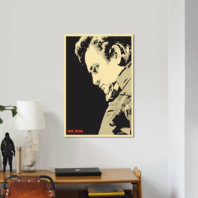 East Urban Home \'The Man: Johnny Cash\' Graphic Art Print on Canvas ...