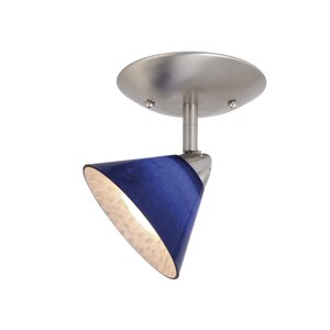 Milano Single Ceiling Light in Blue Glass