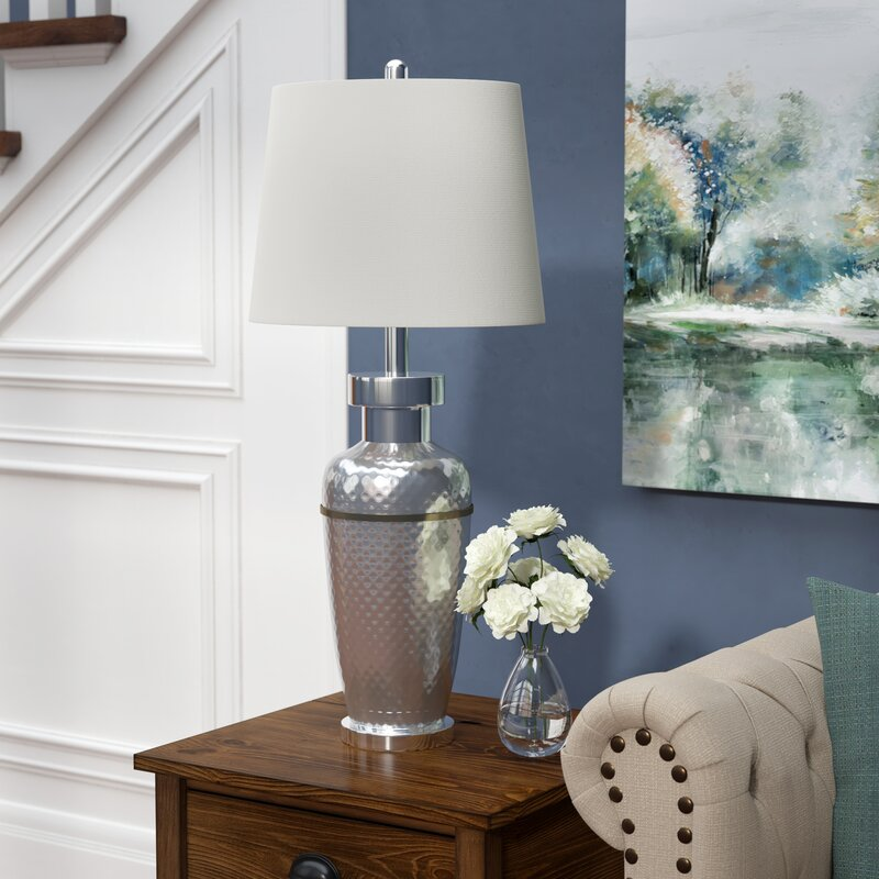 Alcott Hill Vandyne Hammerecd Metal Base 32 5 Quot Table Lamp