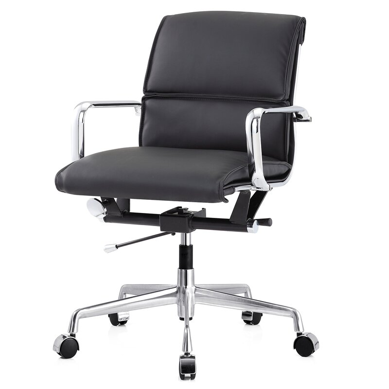 Meelano Leather Office Chair Reviews Wayfair
